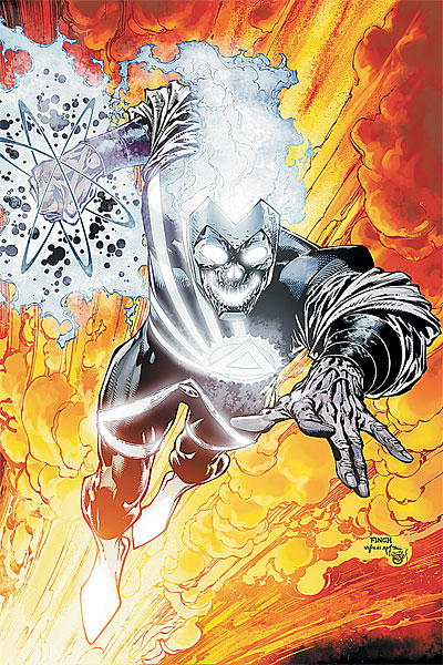 cover art for DC Comics Brightest Day #4 featuring Black Lantern Firestorm