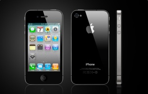 display image of iPhone 4 front, back and side