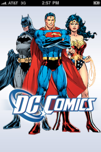 DC Comics App Welcome Screen