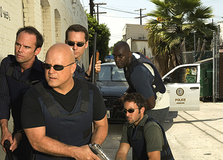 the strike team leader vic mackey michael Chiklis from the Shield