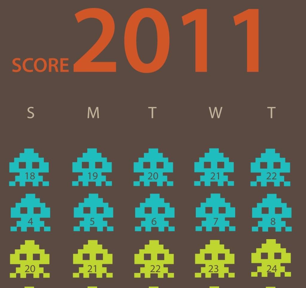 2011 Space Invaders Calendar