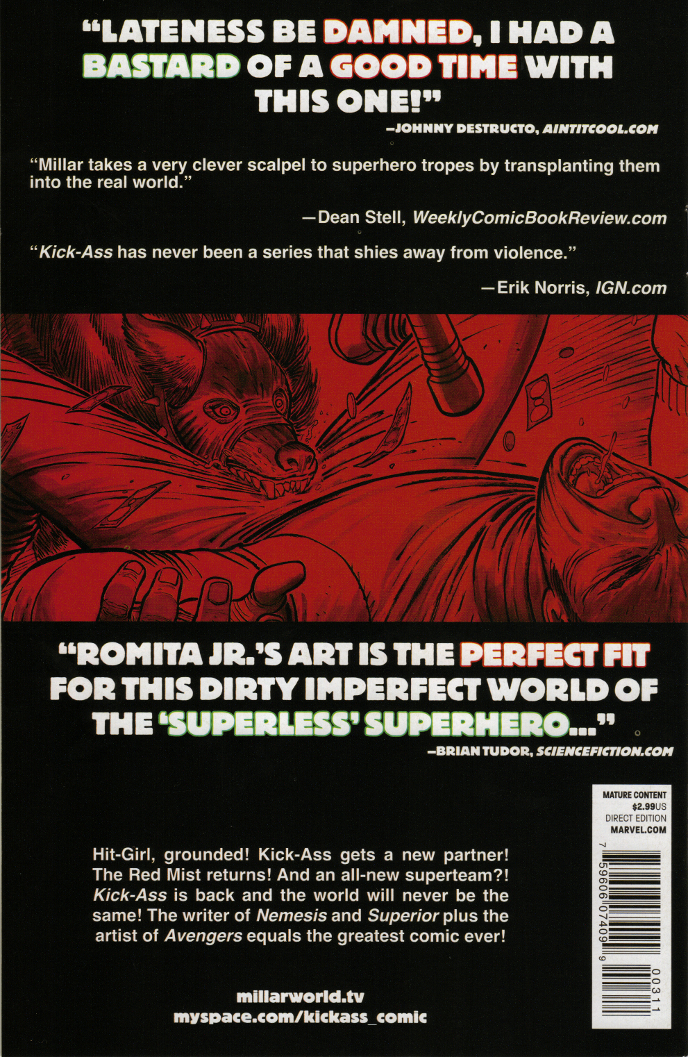 Kick-Ass 2 3 Back Cover