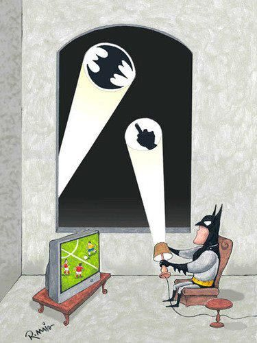 Bat signal and a night off for the dark knight