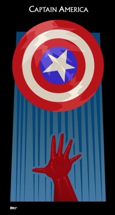 Matt Ferguson Minimal Captain America
